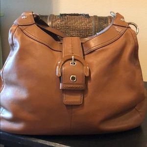 COACH Soho Brown Leather F17092